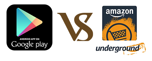 amazon underground vs google play