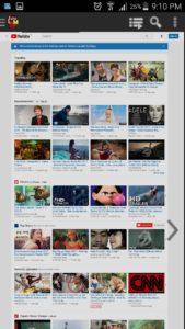 Tubemate Desktop website of YouTube