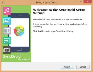 SyncDroid install now