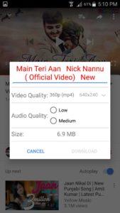 OGYouTube - select audio quality