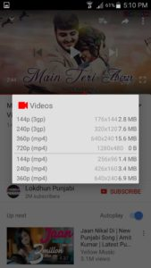 OGYouTube - download options